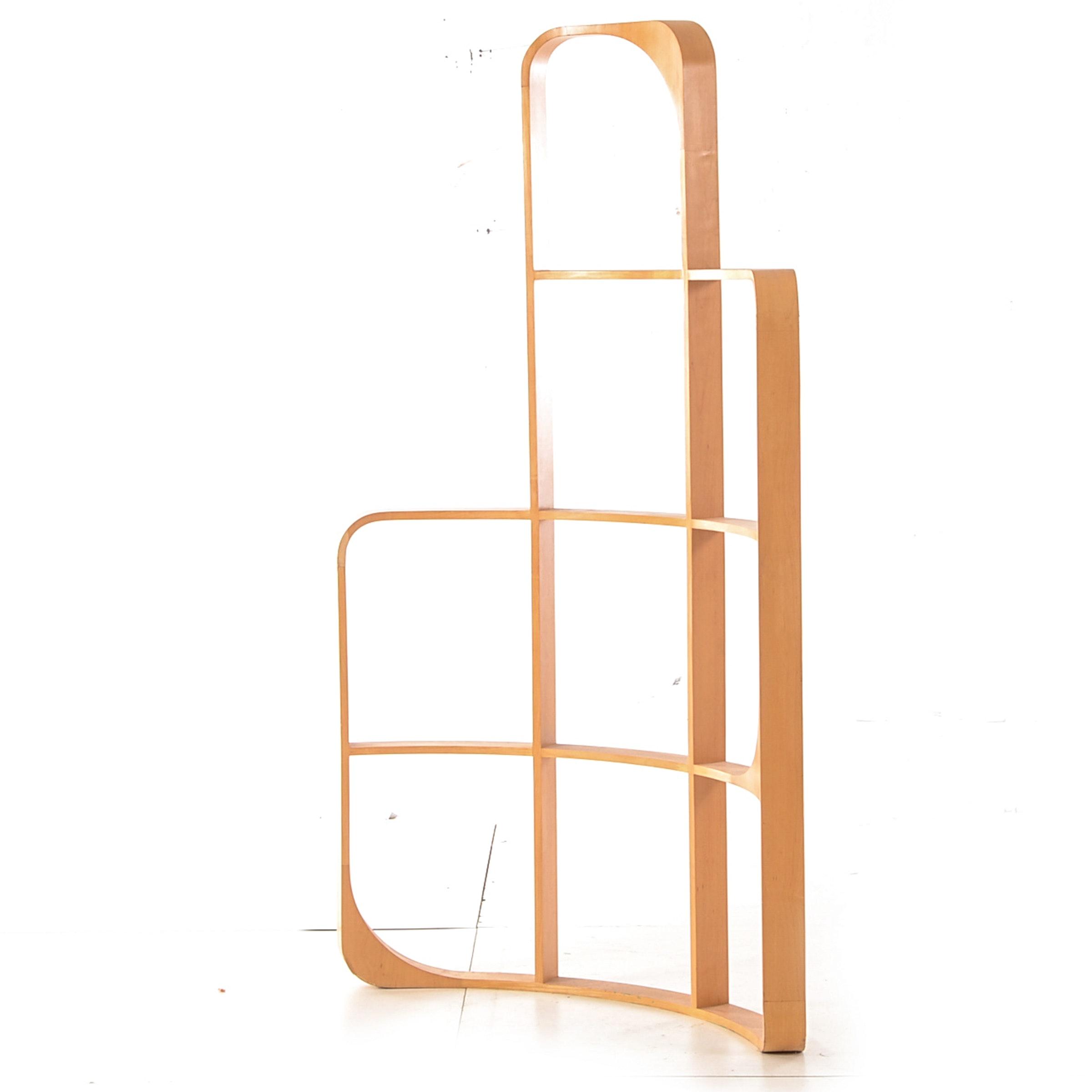 Curved Maple Framed Room Divider EBTH