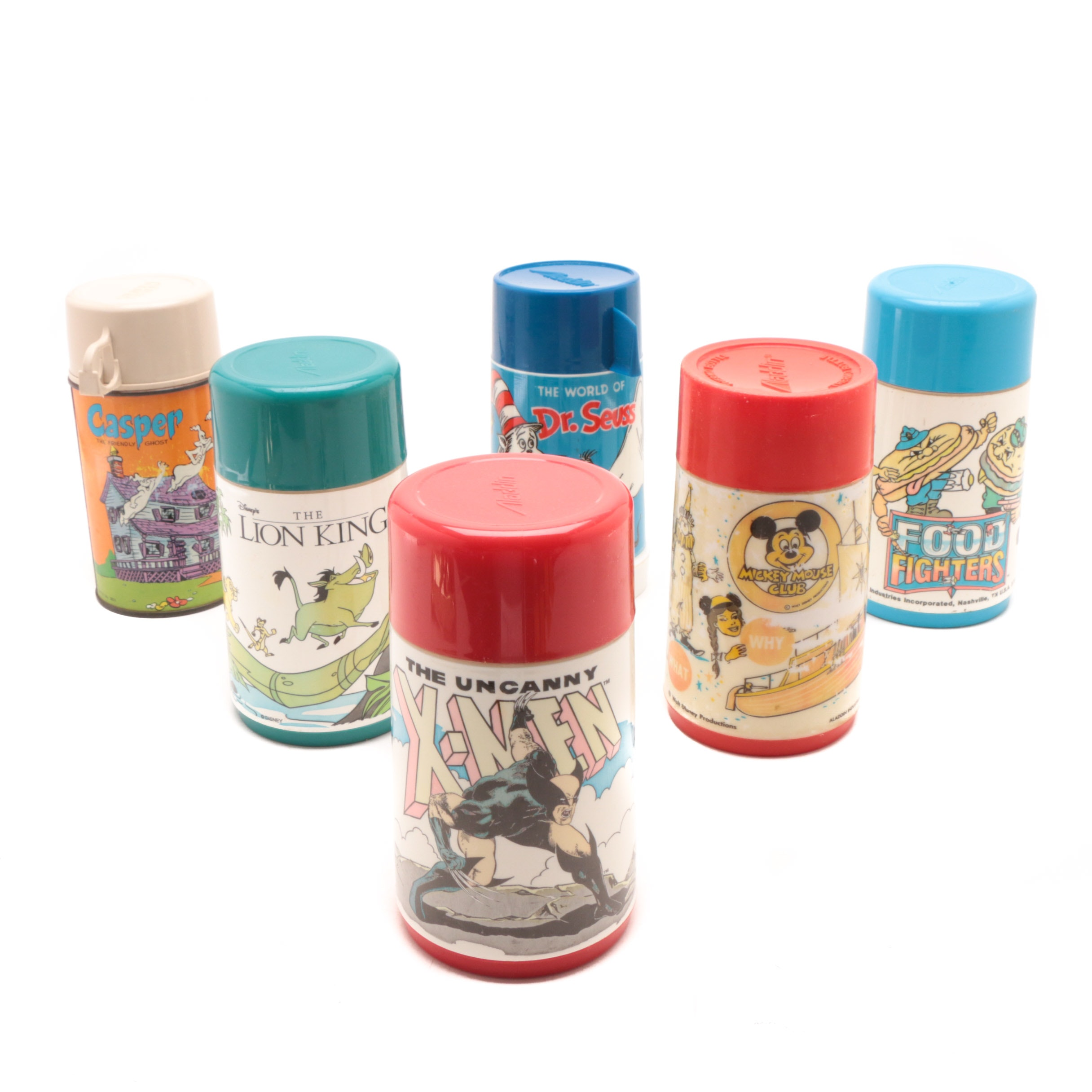 Vintage Thermoses Featuring Aladdin Dr. Seuss