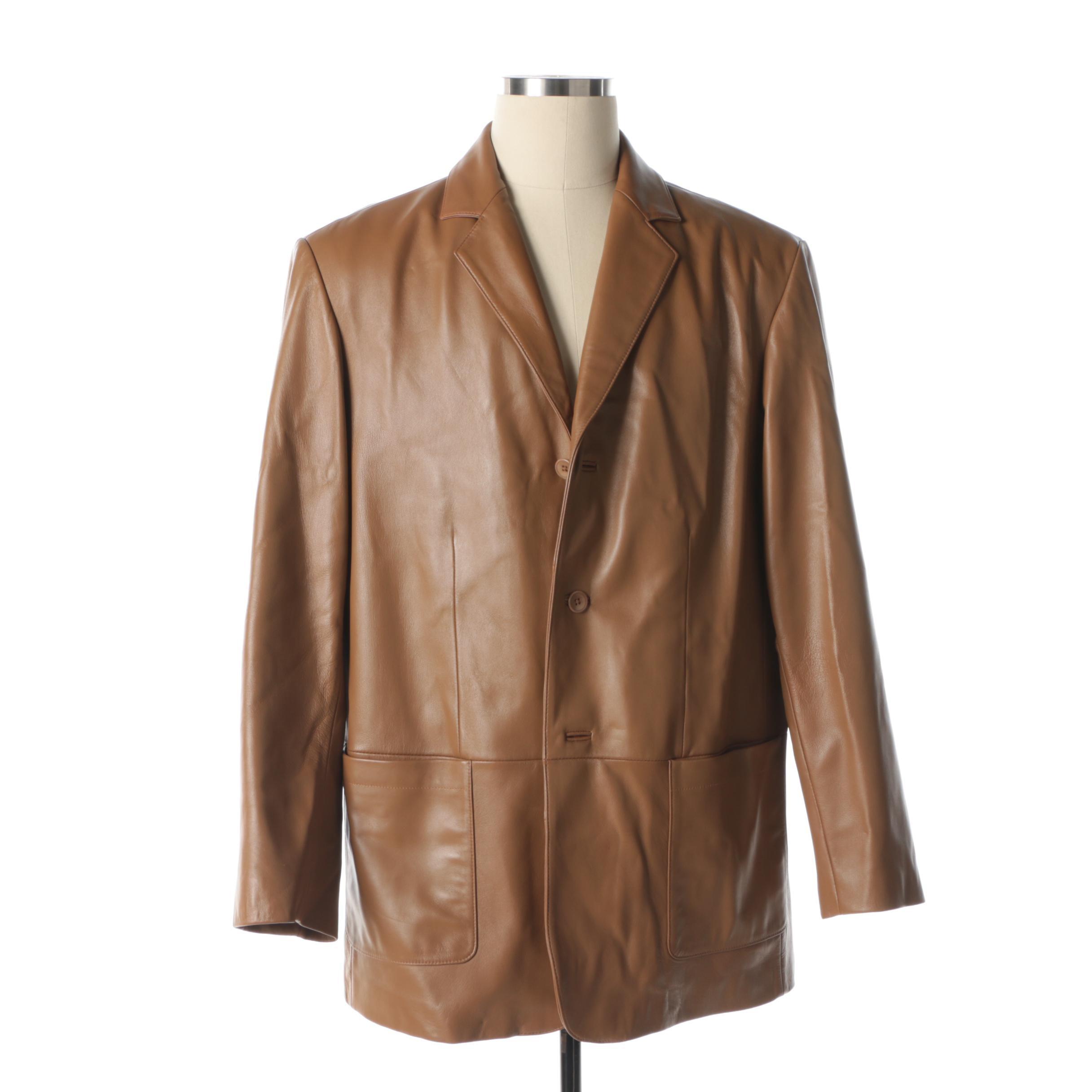 Men's Jos. A. Bank Brown Leather Blazer