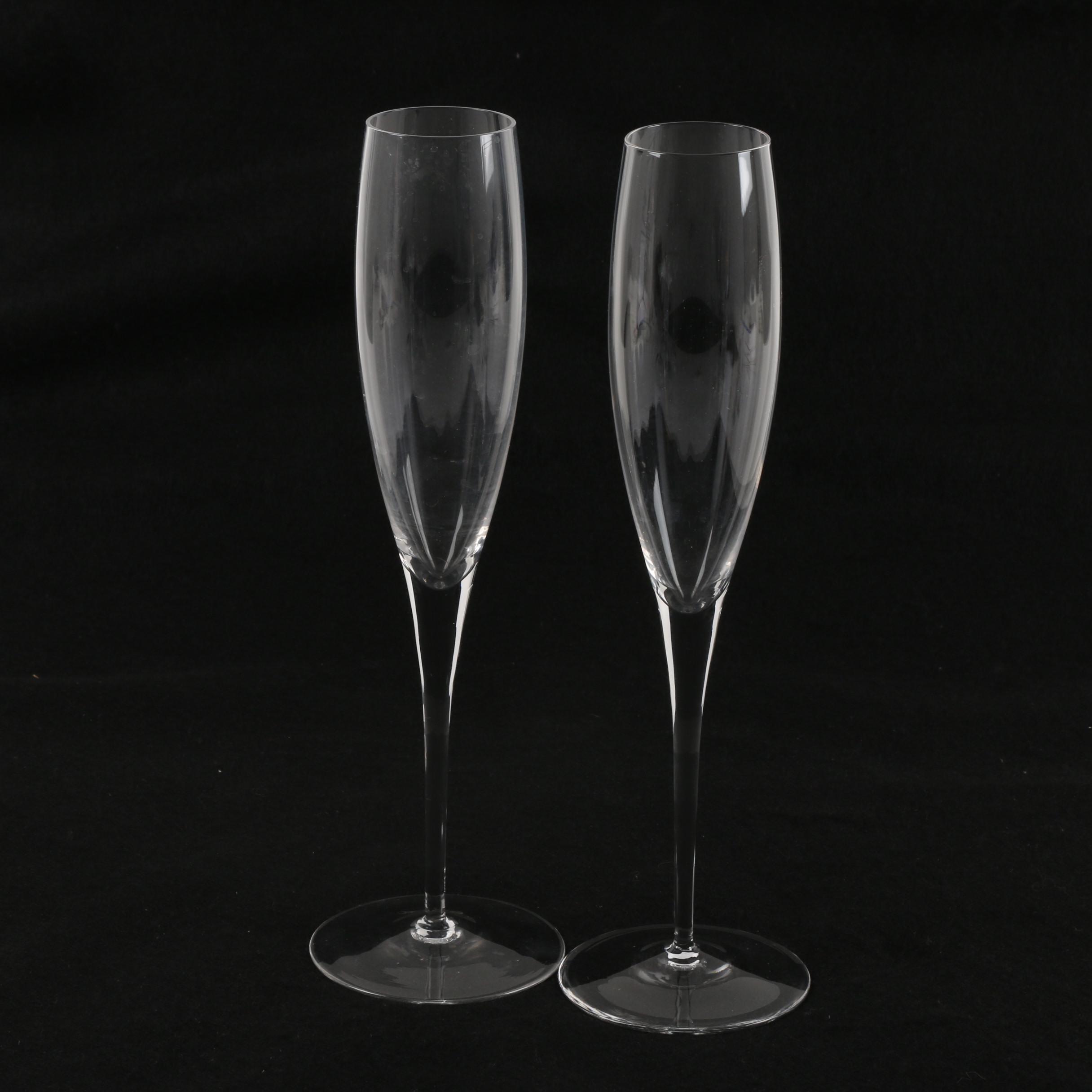 Glass Champagne Flutes