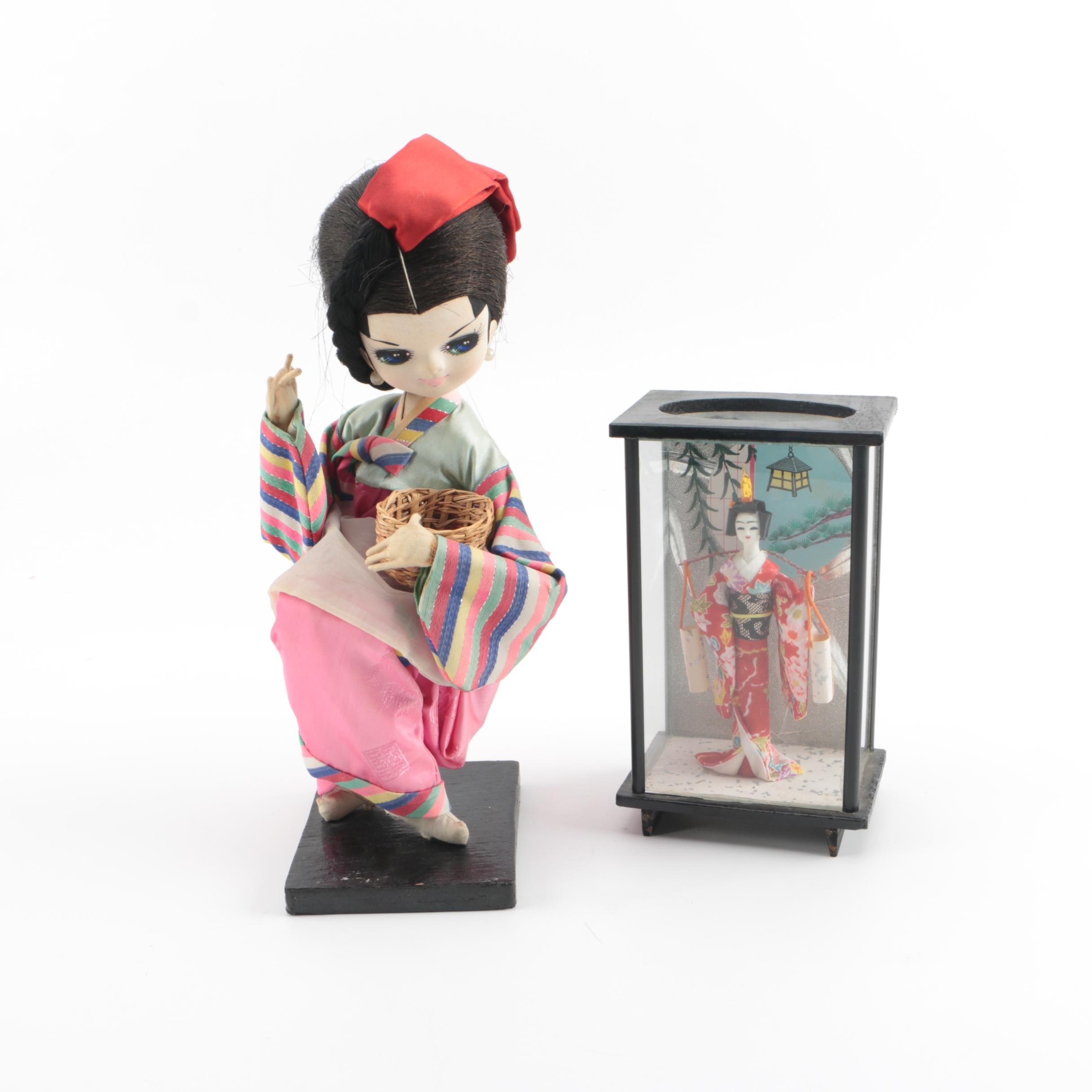 Korean and Japanese Decorative Dolls