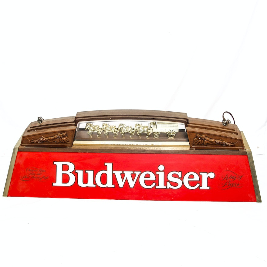 Budweiser Clydesdale Pool Table Light EBTH - Budweiser clydesdale pool table light