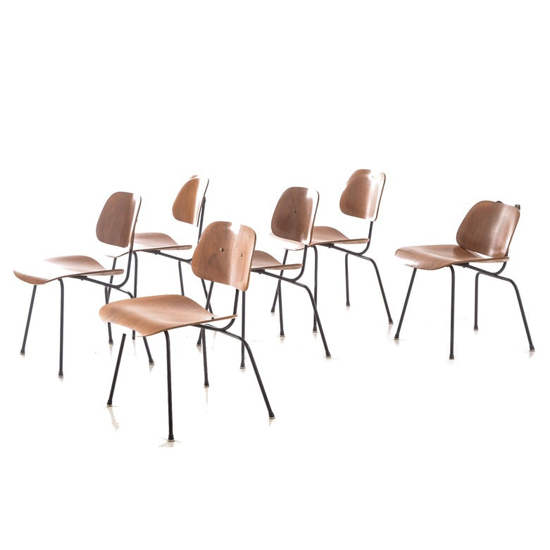 Six Mid Century Modern Herman Miller DCM Side Chairs