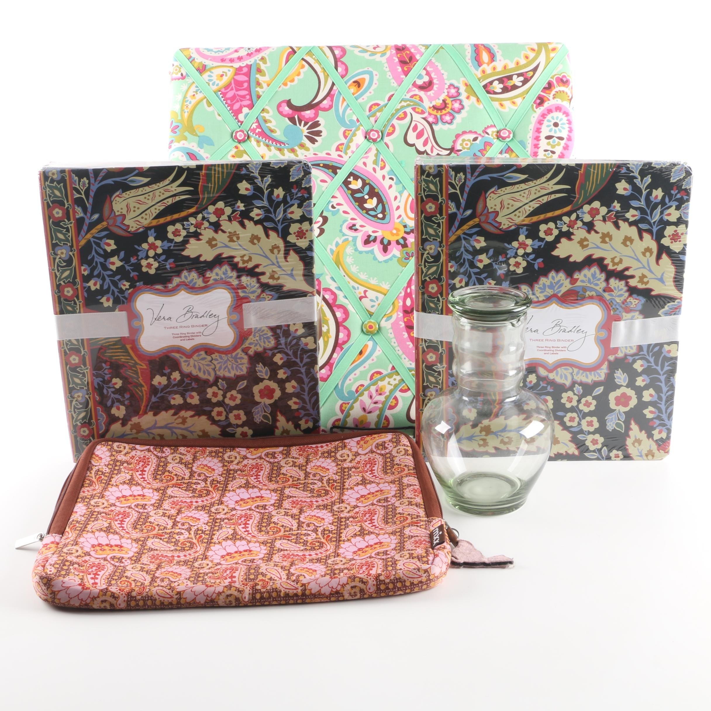 Paisley and Floral Print Office Accessories Including Vera Bradley