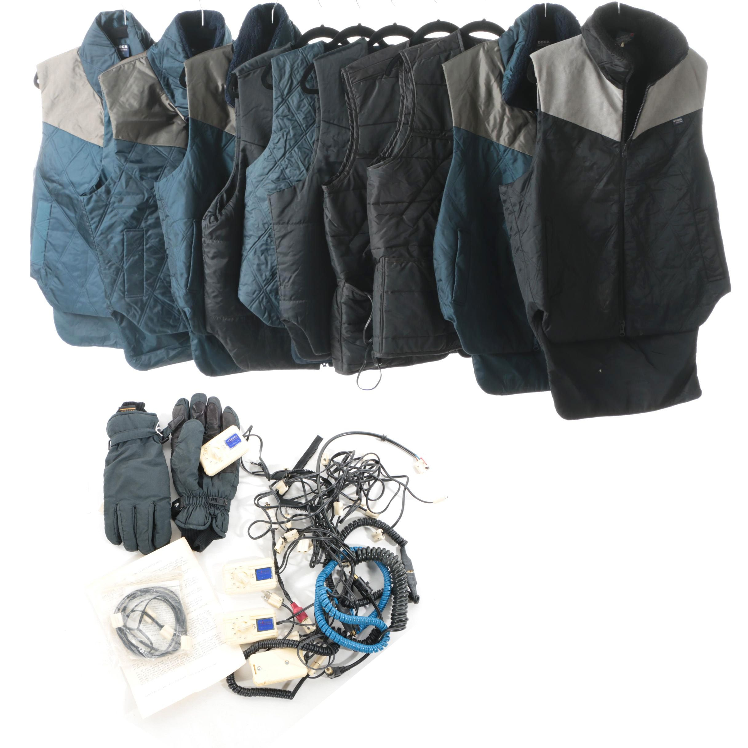 Circa 1990s Men's Griff's, Widder Heated Vests, Gore-Tex Gloves and Components