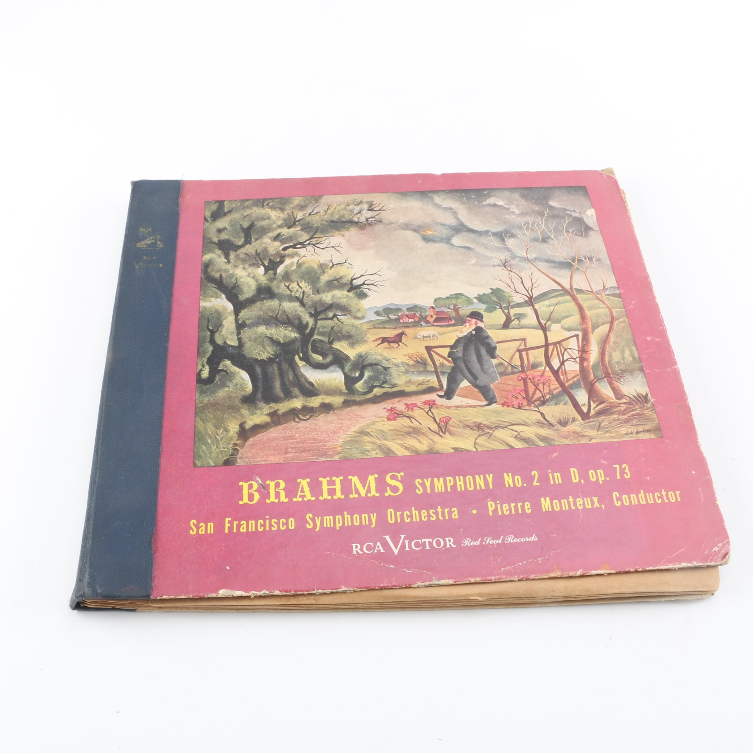 Brahms Symphony Number 2 in D Record Boxed Set