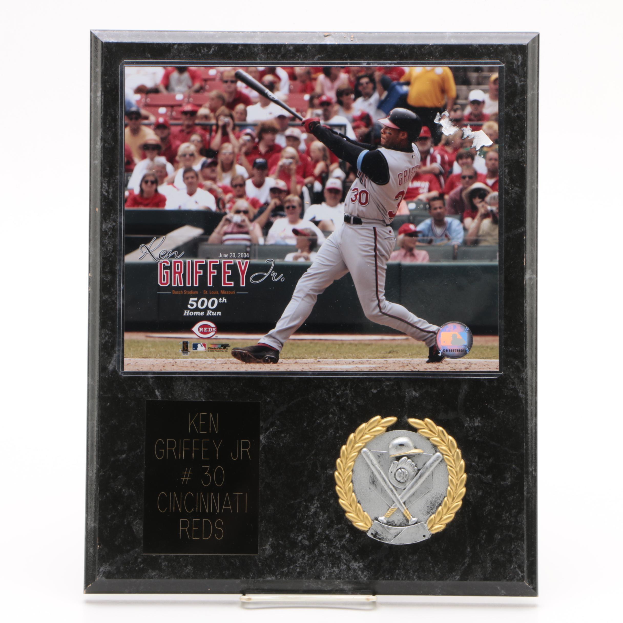 "Ken Griffey Jr. Cincinnati Reds ""500th Home Run"" Commemorative Plaque"