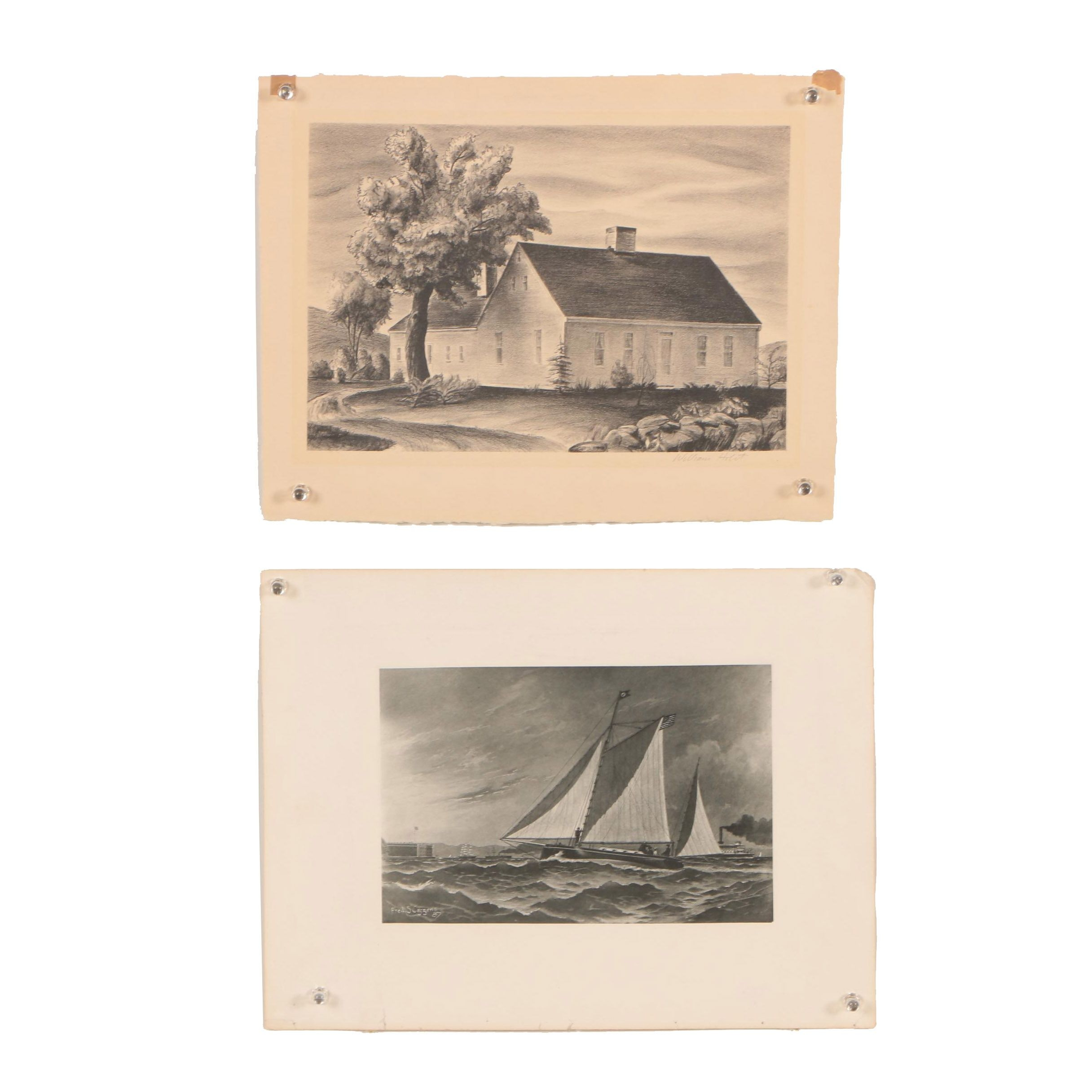 William Holst Lithograph and Collotype after Fred S. Cozzens