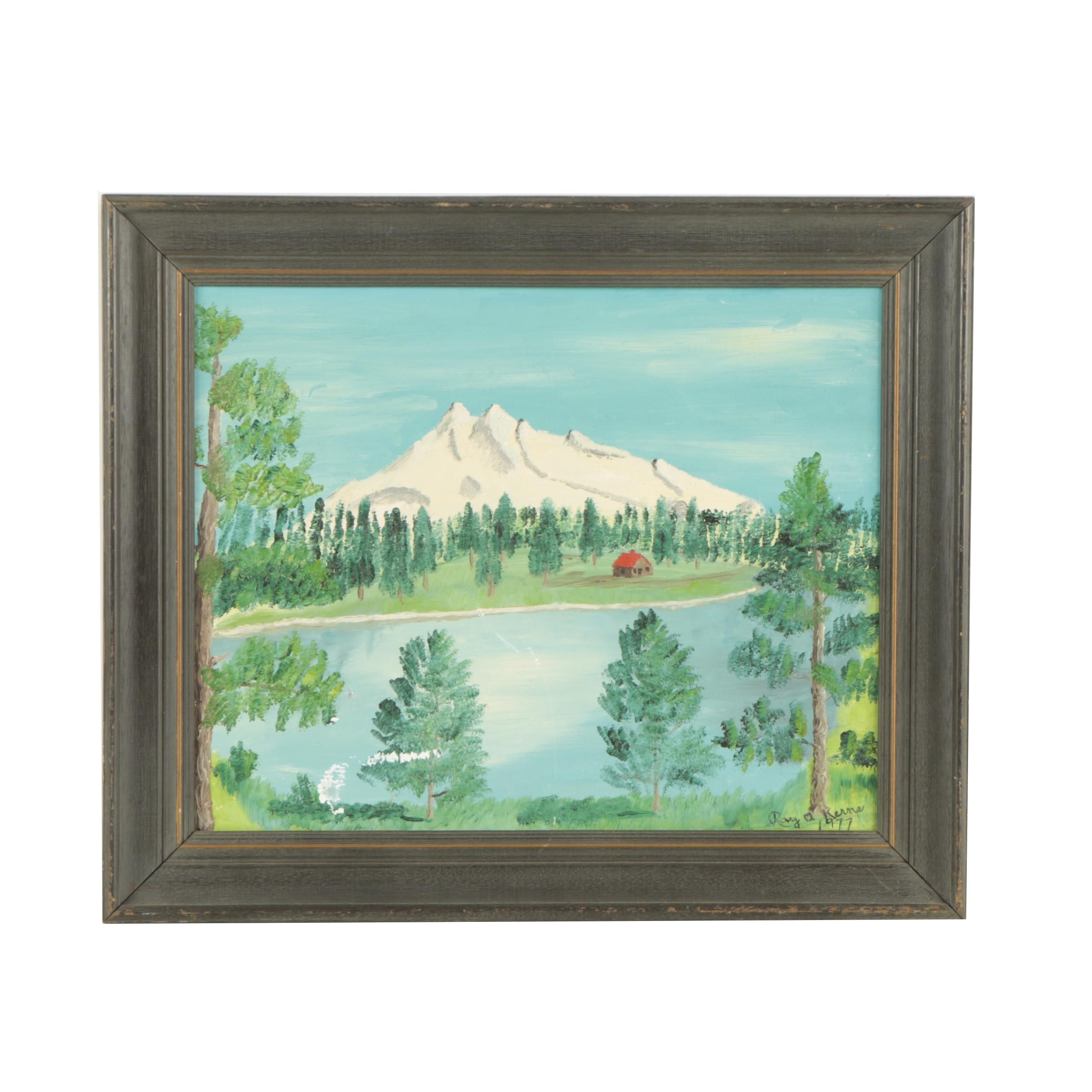"Ray A Kerns Oil Painting ""Mt. Jefferson, Oregon"""