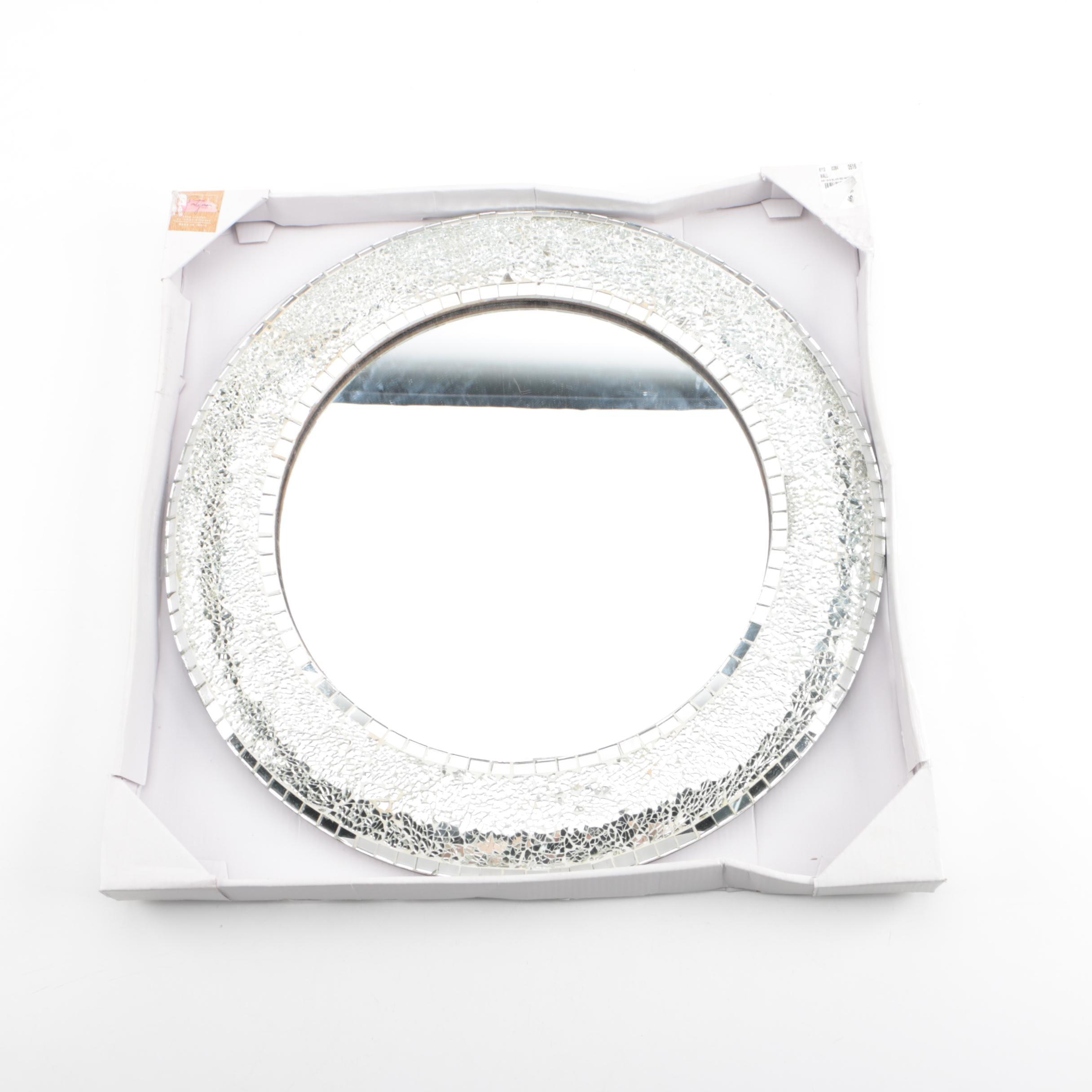 Portofino Handcrafted Round Mirror-Tiled Wall Mirror