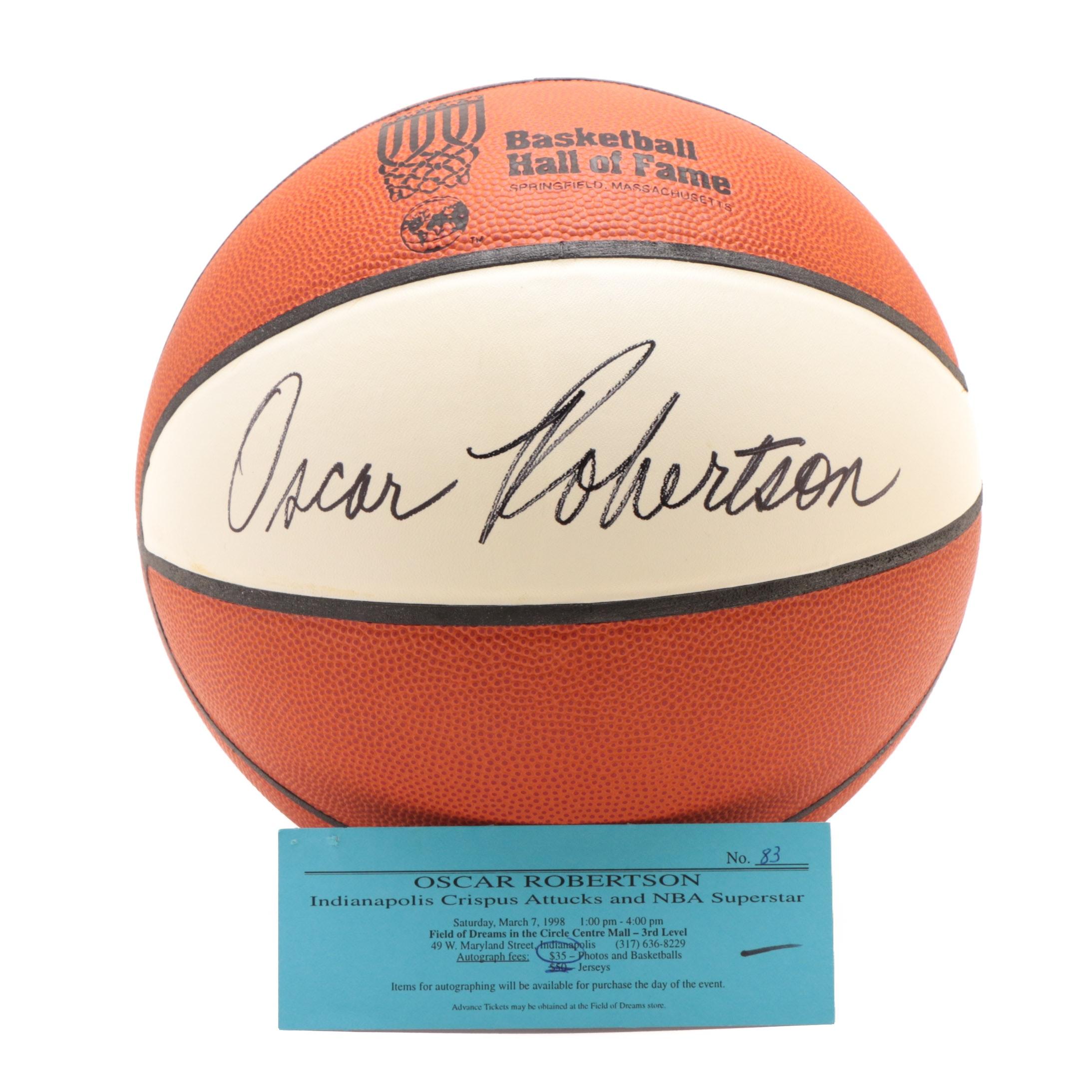 Oscar Robertson Signed Basketball  COA