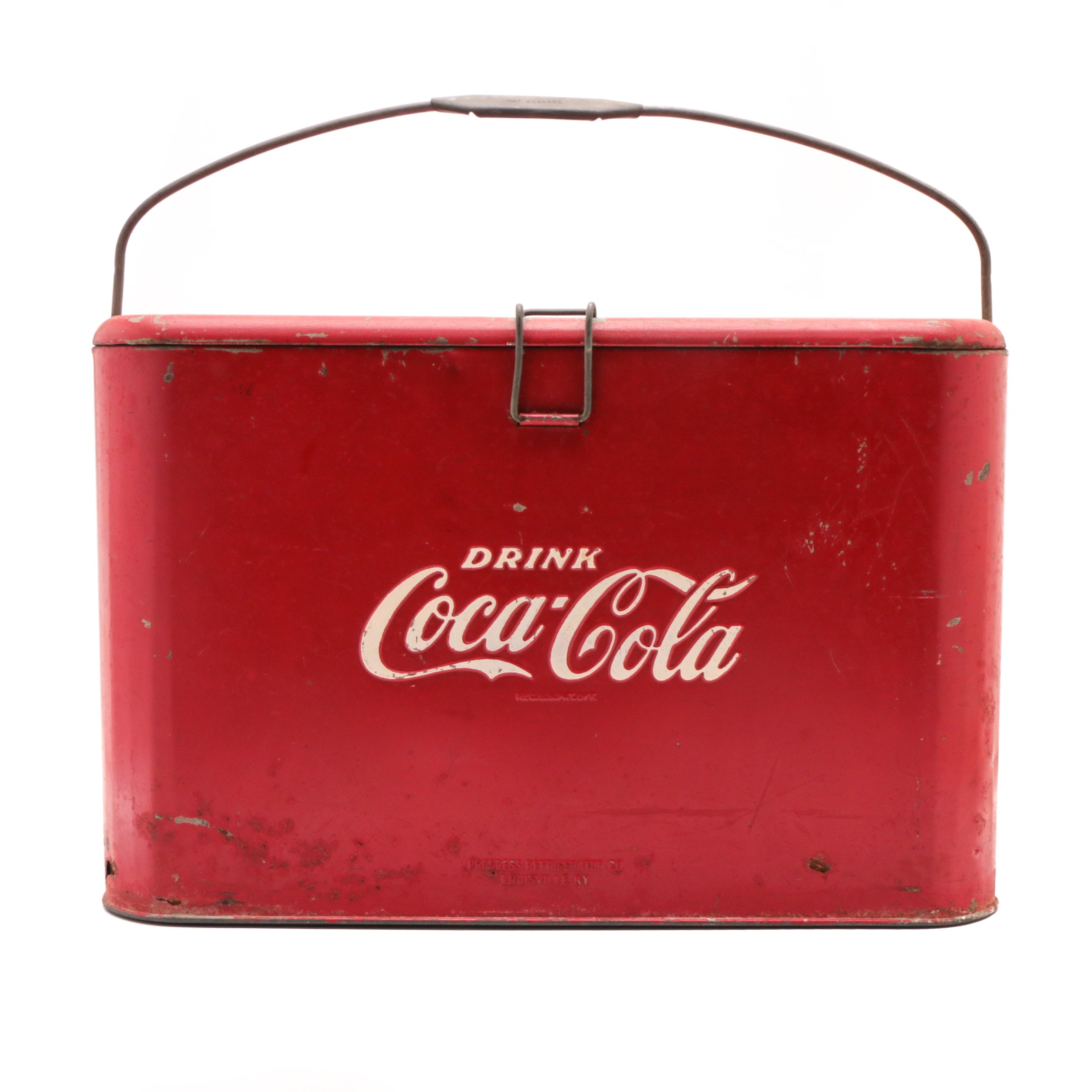 "1940s Coca-Cola ""Airliner"" Metal Ice Chest or Cooler"