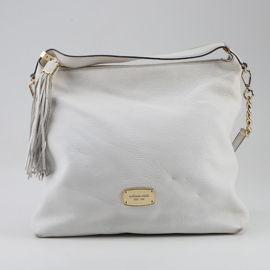 a231d526ed76 MICHAEL Michael Kors White Pebbled Leather Satchel : EBTH