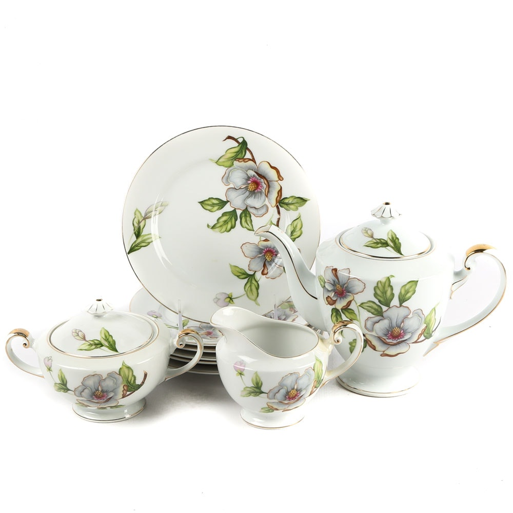 "Vintage Roselyn China ""Dogwood"" Tea Set"