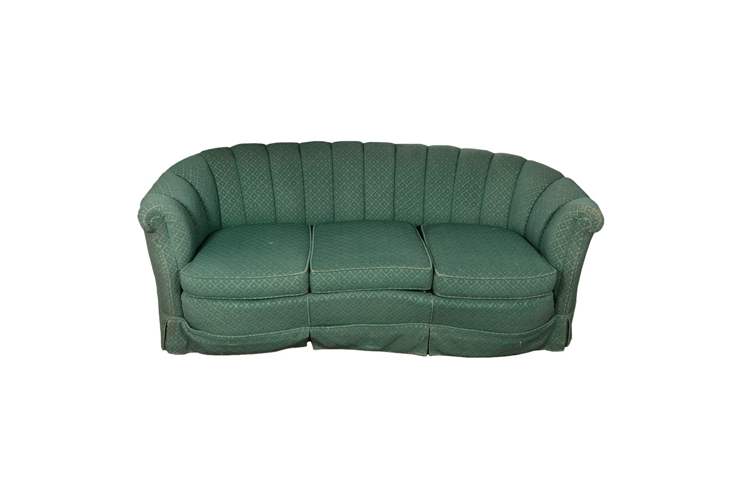 Channel Back Cabriole Sofa