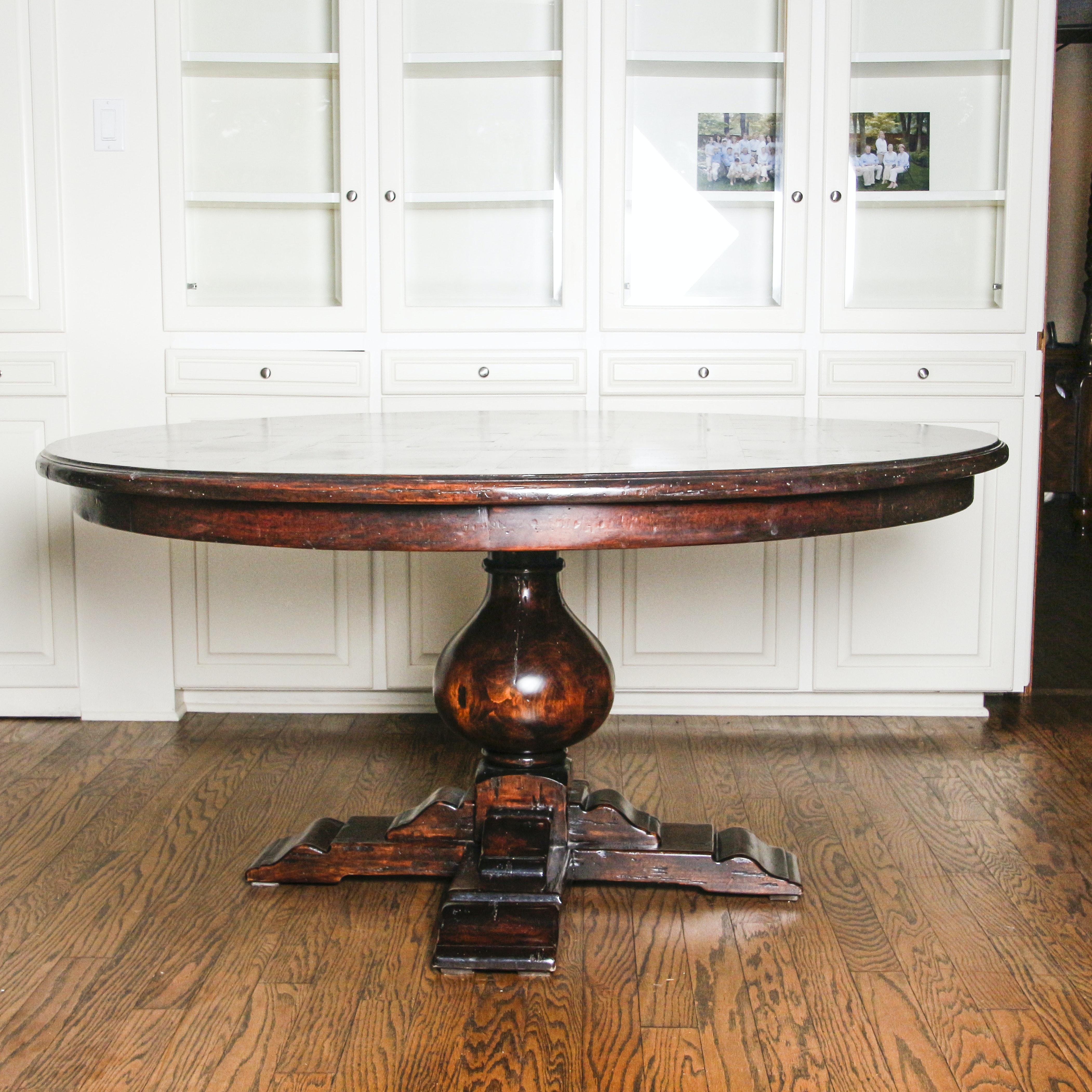 Vintage Pedestal Dining Table