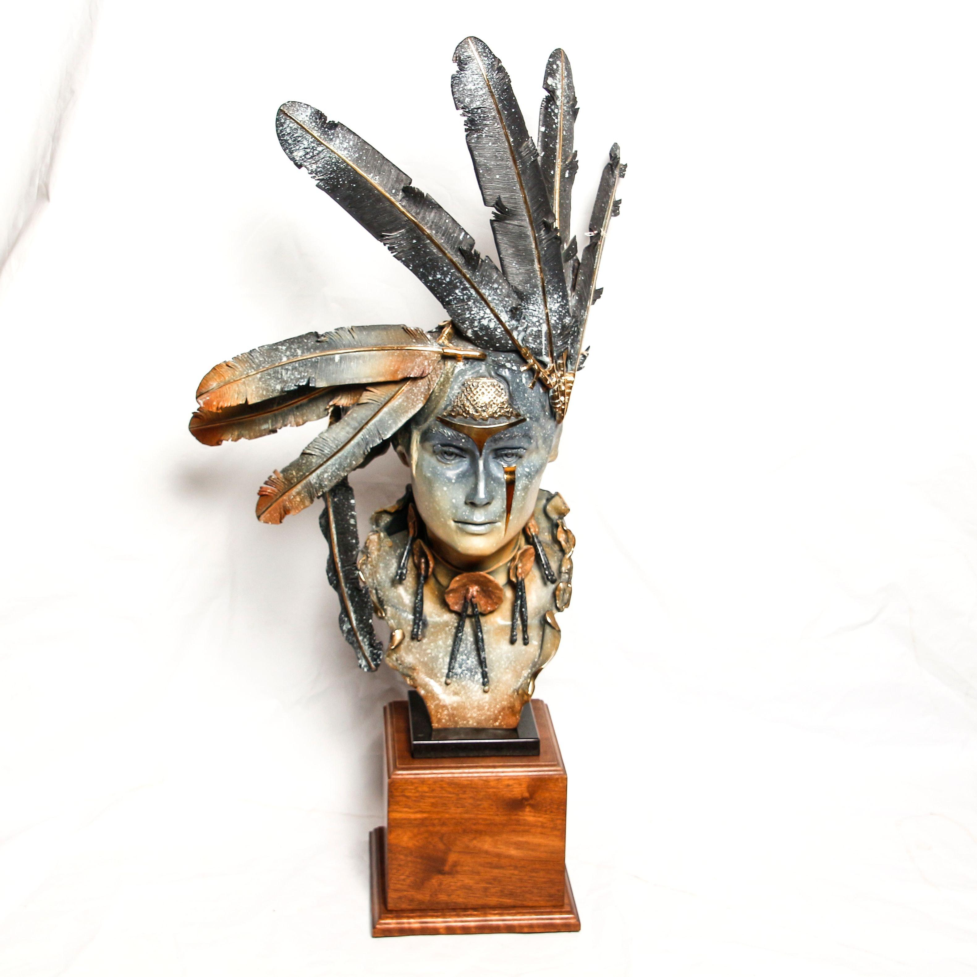 Nick Moffett Bronze Bust Sculpture