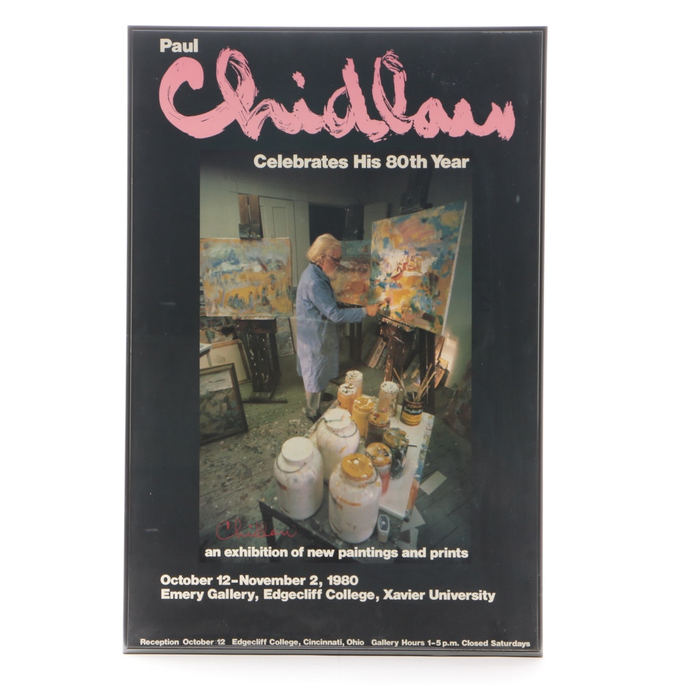 Paul Chidlaw Signed Exhibition Poster