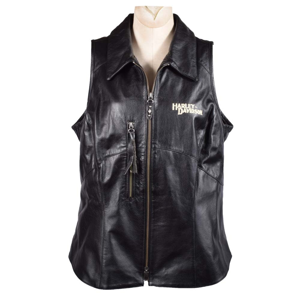 Women's Harley-Davidson Black Leather Vest