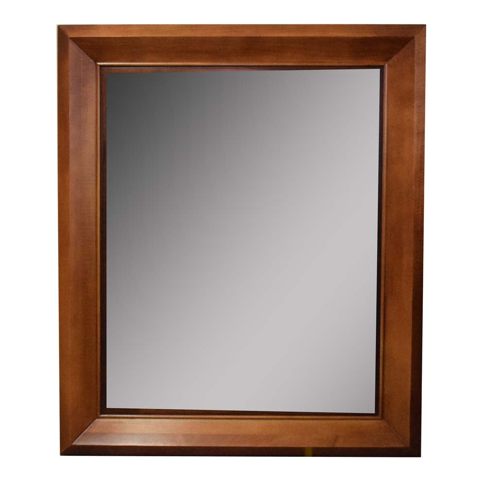 Solid Cherry American Expressions Wood Wall Mirror
