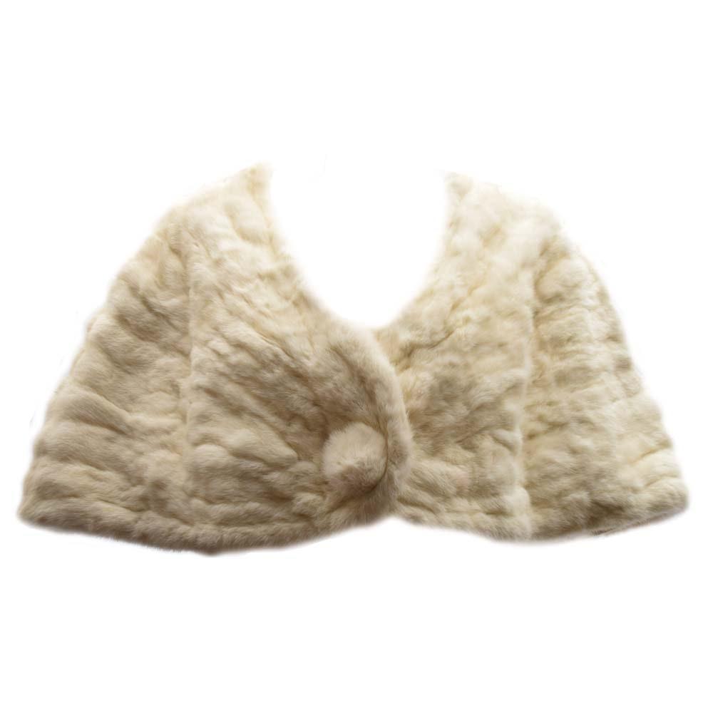 Vintage White Rabbit Fur Shrug from F. Karl Beckh & Co. Furs