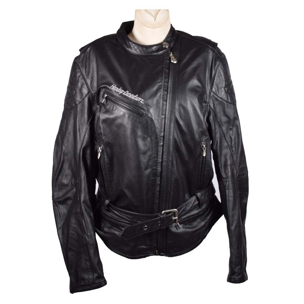 Women's Harley-Davidson Black Leather Moto Jacket