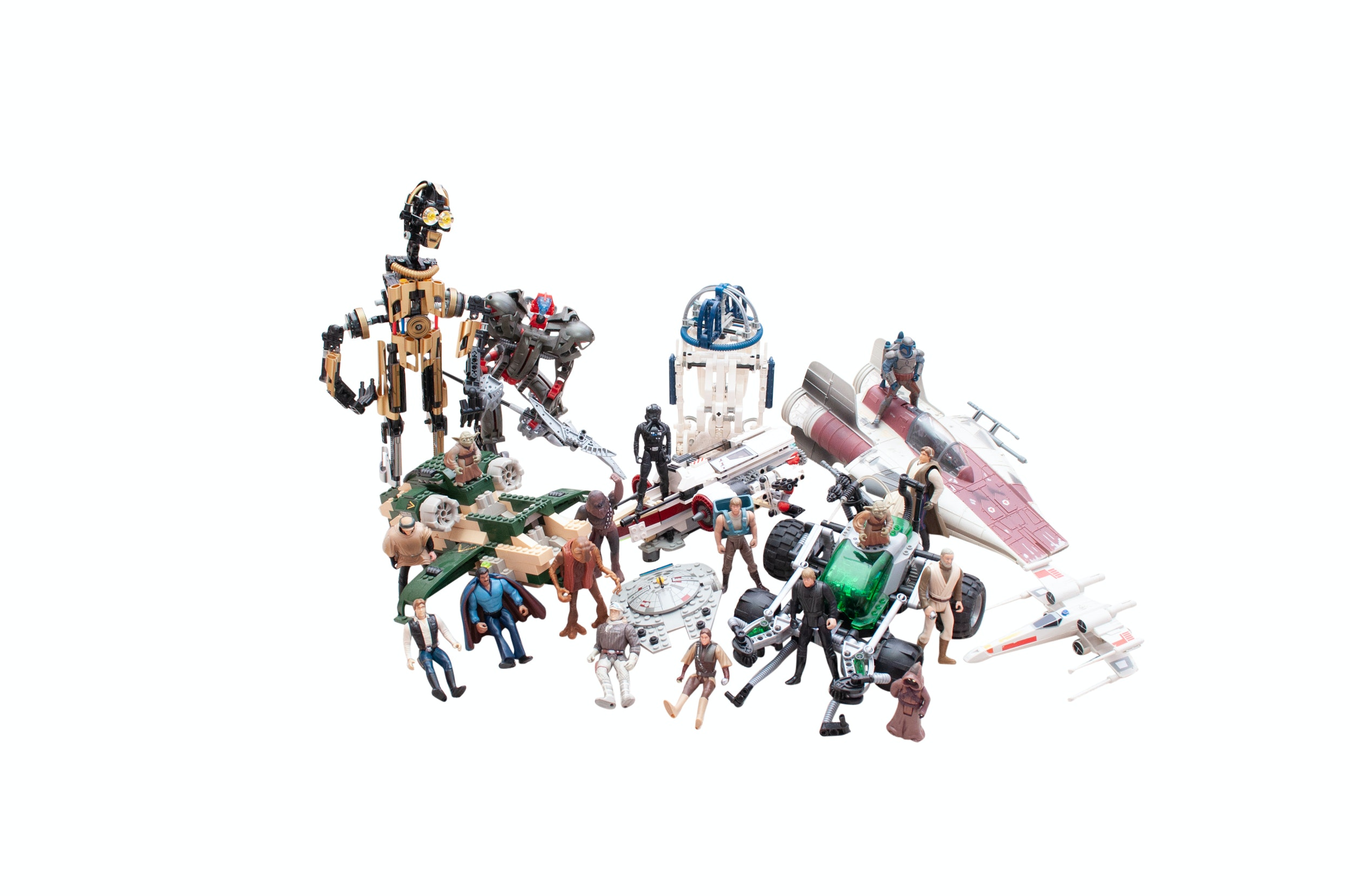Vintage Star Wars Figurines and Construction Sets