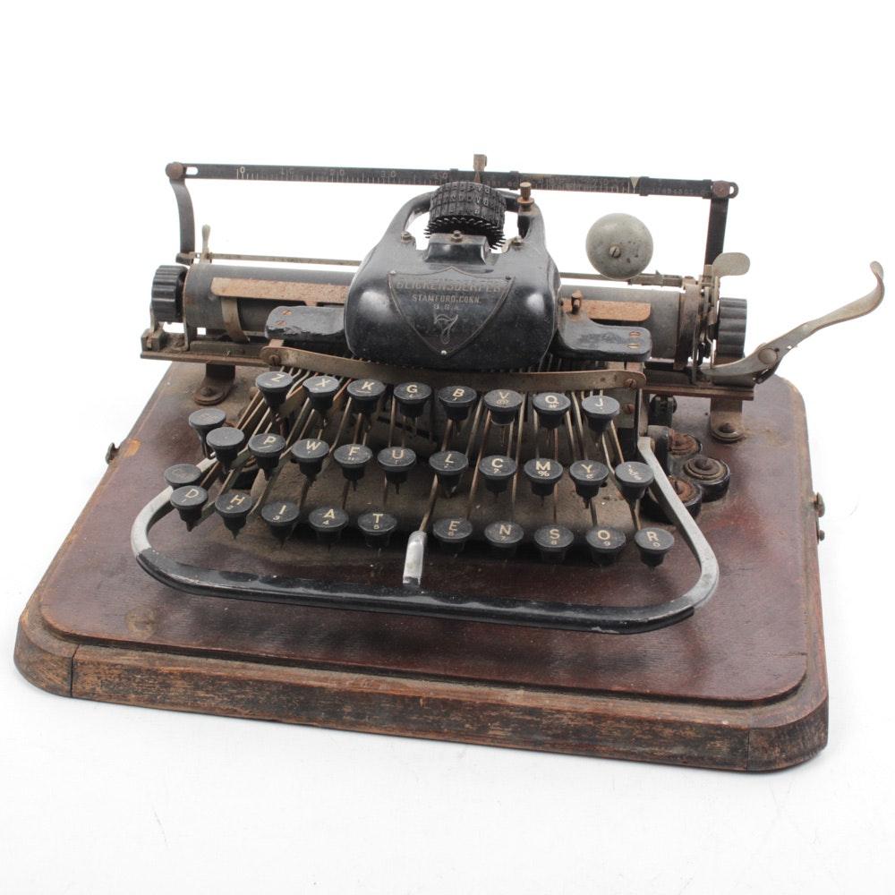 Antique Blicksenderfer Model 7 Portable Typewriter