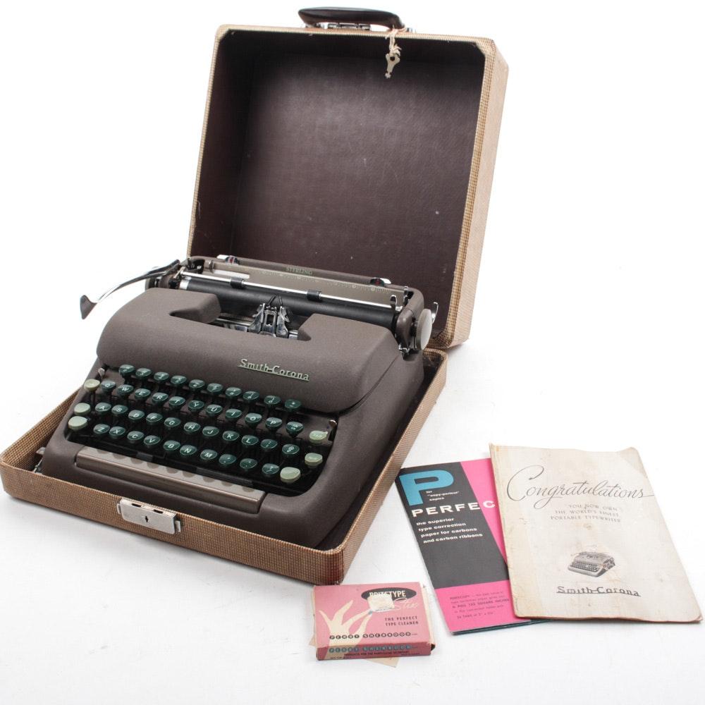 "Vintage Smith Corona ""Sterling"" Portable Typewriter"