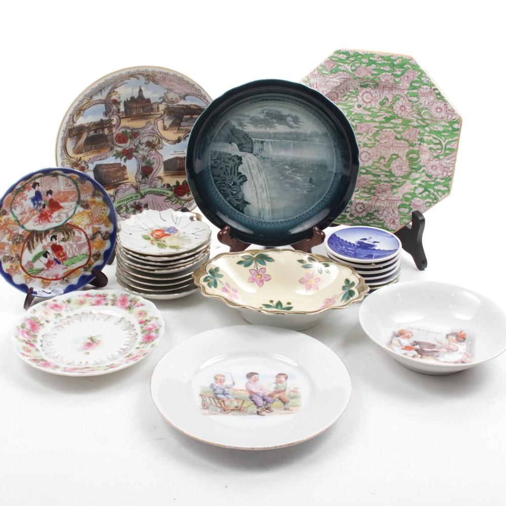 Vintage Porcelain Saucer and Plate Assortment
