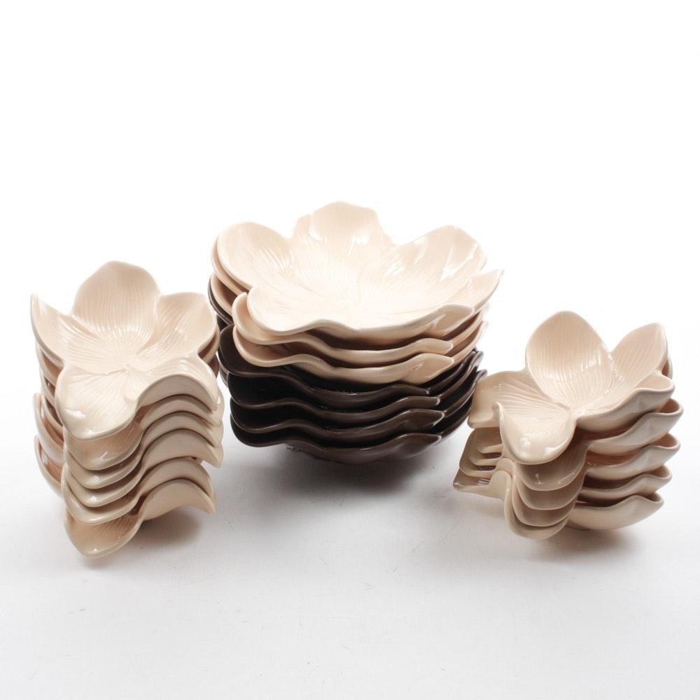 "Arhaus Decorative ""Magnolia"" Bowls"