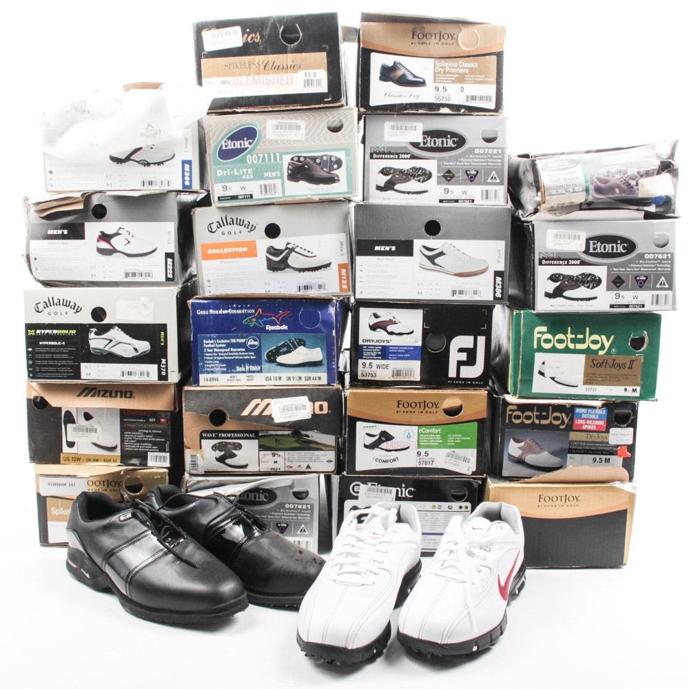 Nike, Callaway, Etonic, Reebok, Mizuno, and FootJoy Golf Shoes