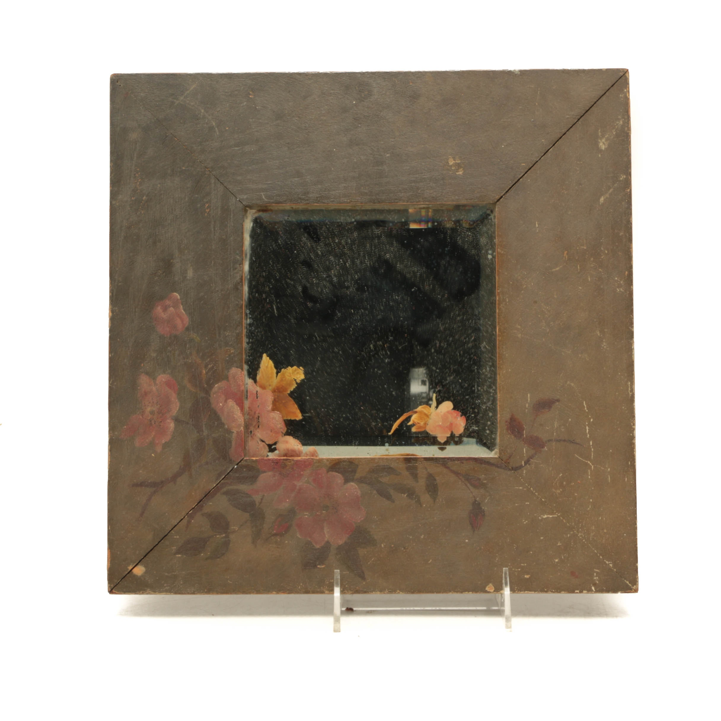 Antique Hand-Painted Wall Mirror