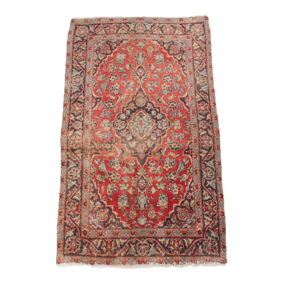 Vintage Hand Knotted Persian Ardekan Kashan Rug