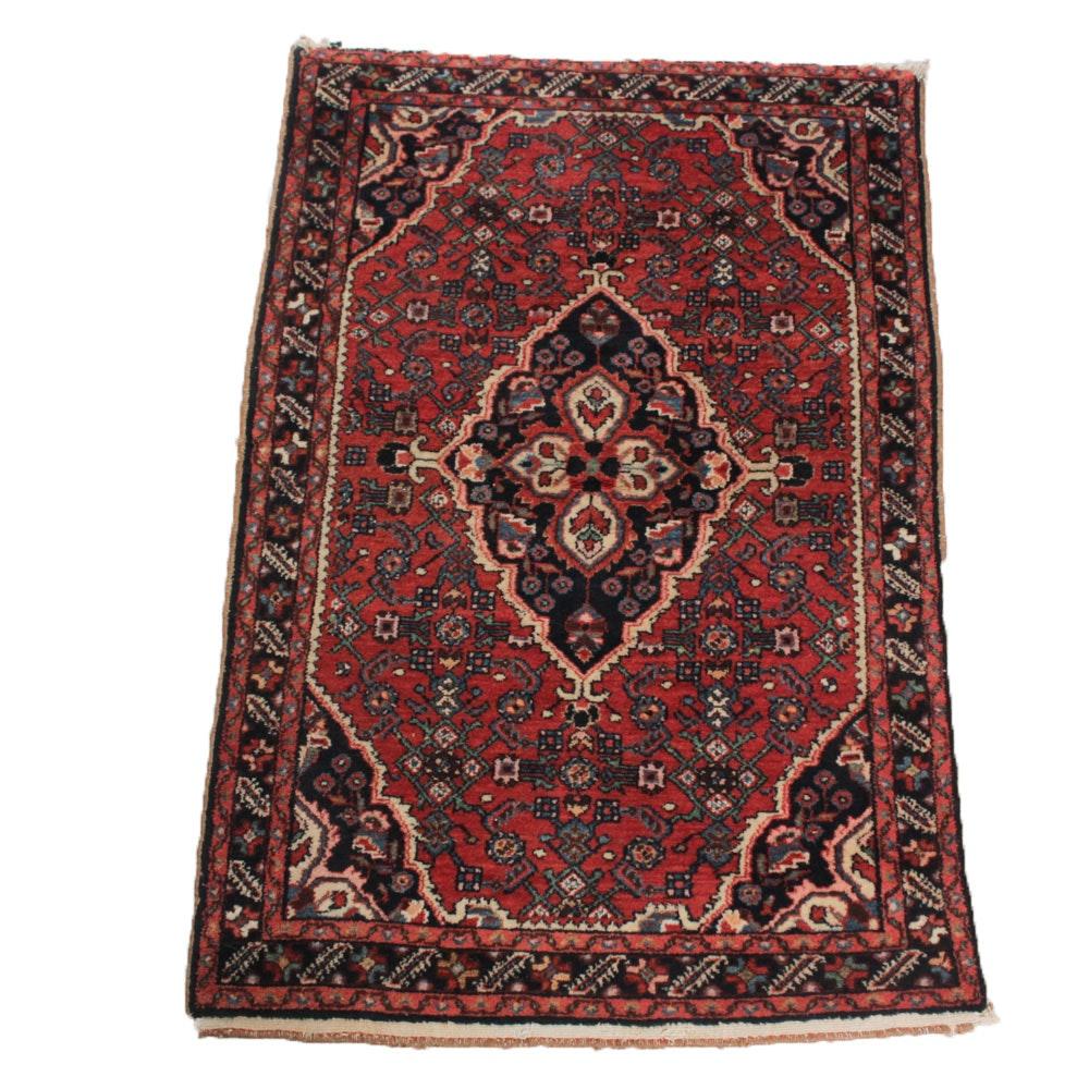 Vintage Hand Knotted Persian Kashan Rug