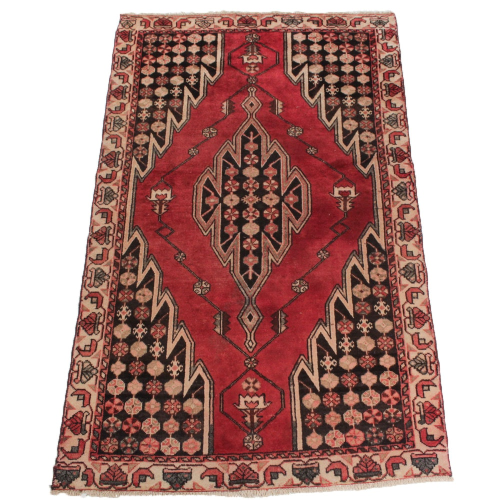Vintage Hand Knotted Persian Kerdar Rug