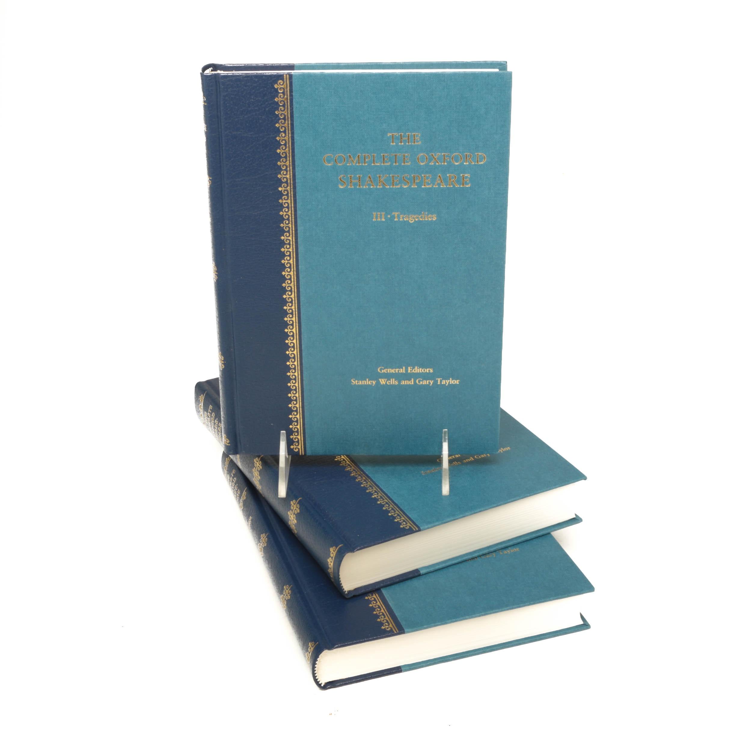 """The Complete Oxford Shakespeare"" Three Volume Set"