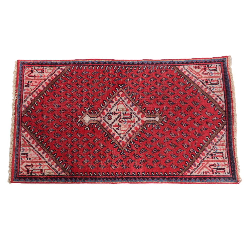 Hand Knotted Indo-Persian Sarouk Rug