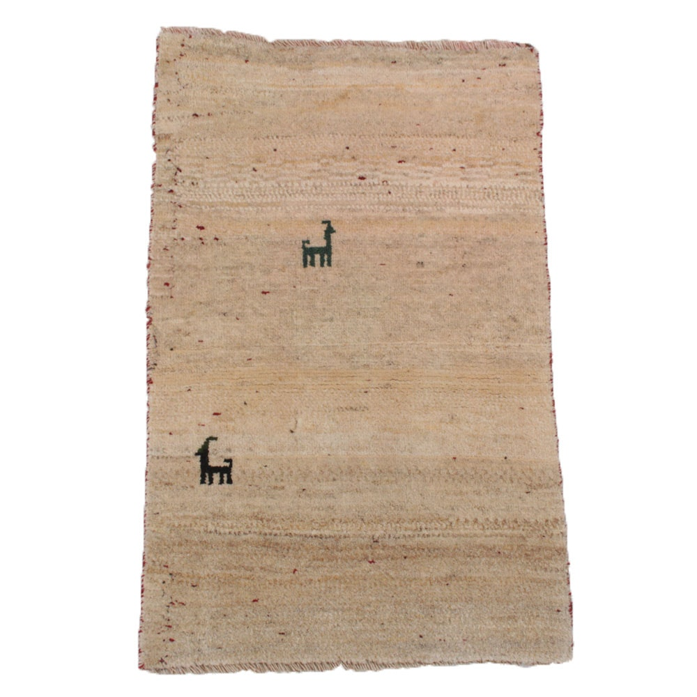 Hand Knotted Indian Gabbeh Accent Rug