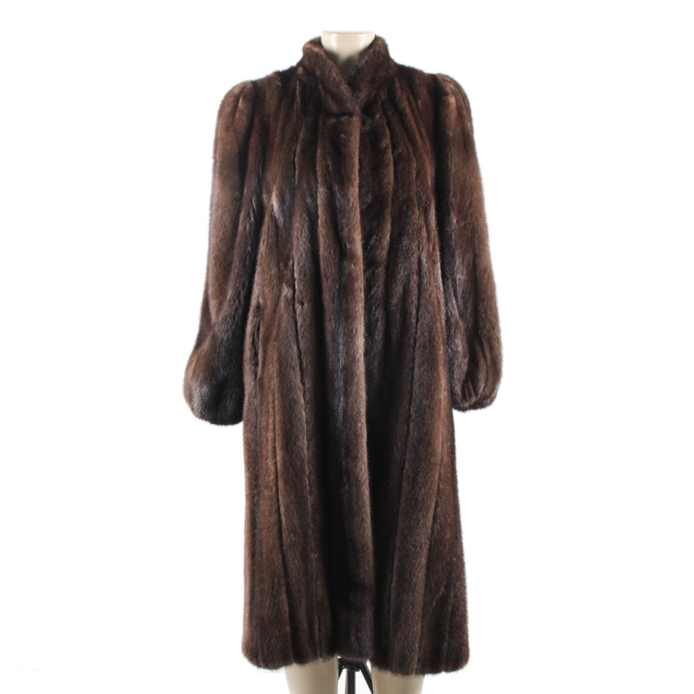 Vintage Ranch Mink Fur Full-Length Coat from The Evans Collection