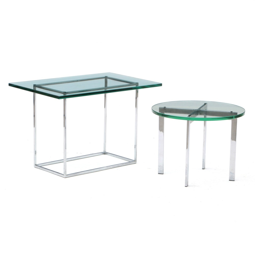 Glass and Metal Accent Tables
