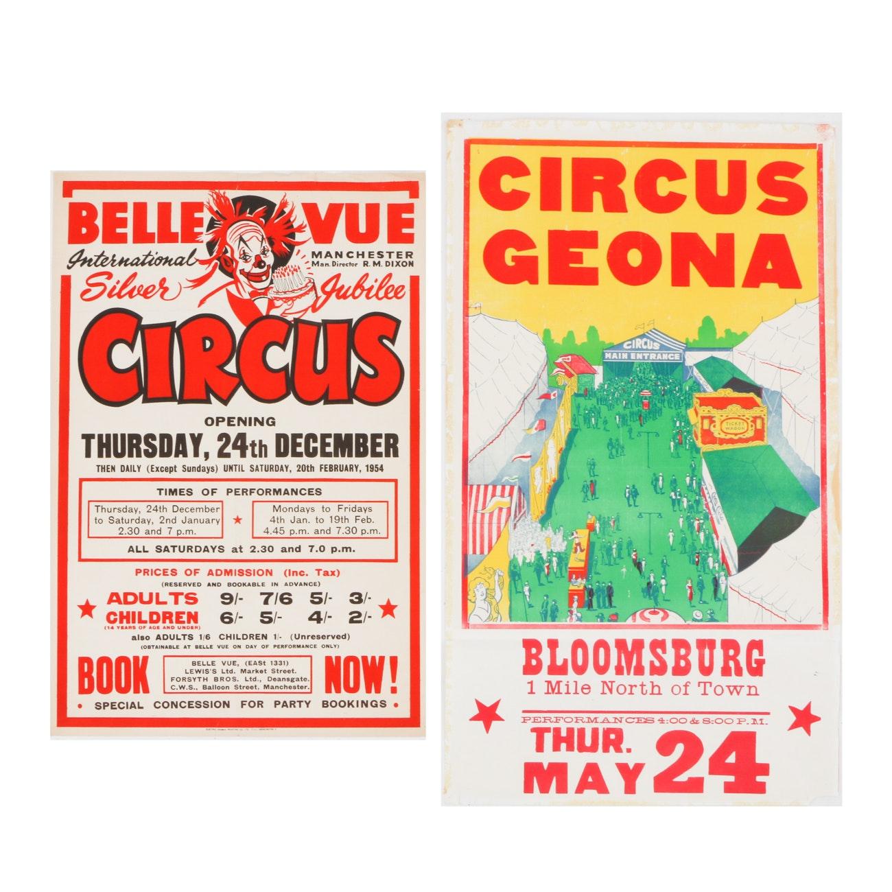 Pair of Vintage Circus Posters