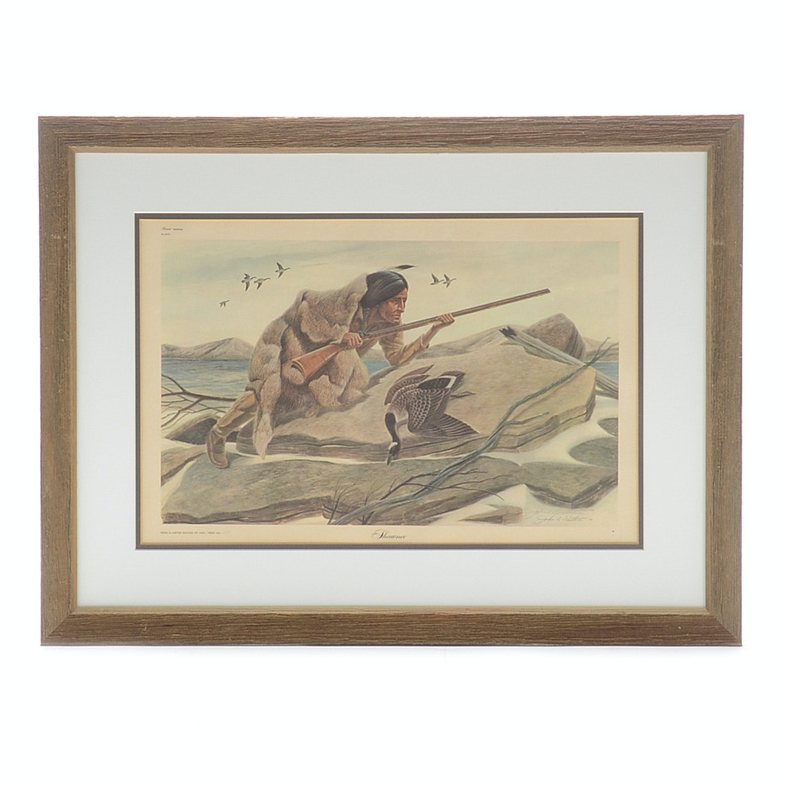 """John Ruthven Signed Limited Edition Offset Lithograph """"Shawnee"""""""