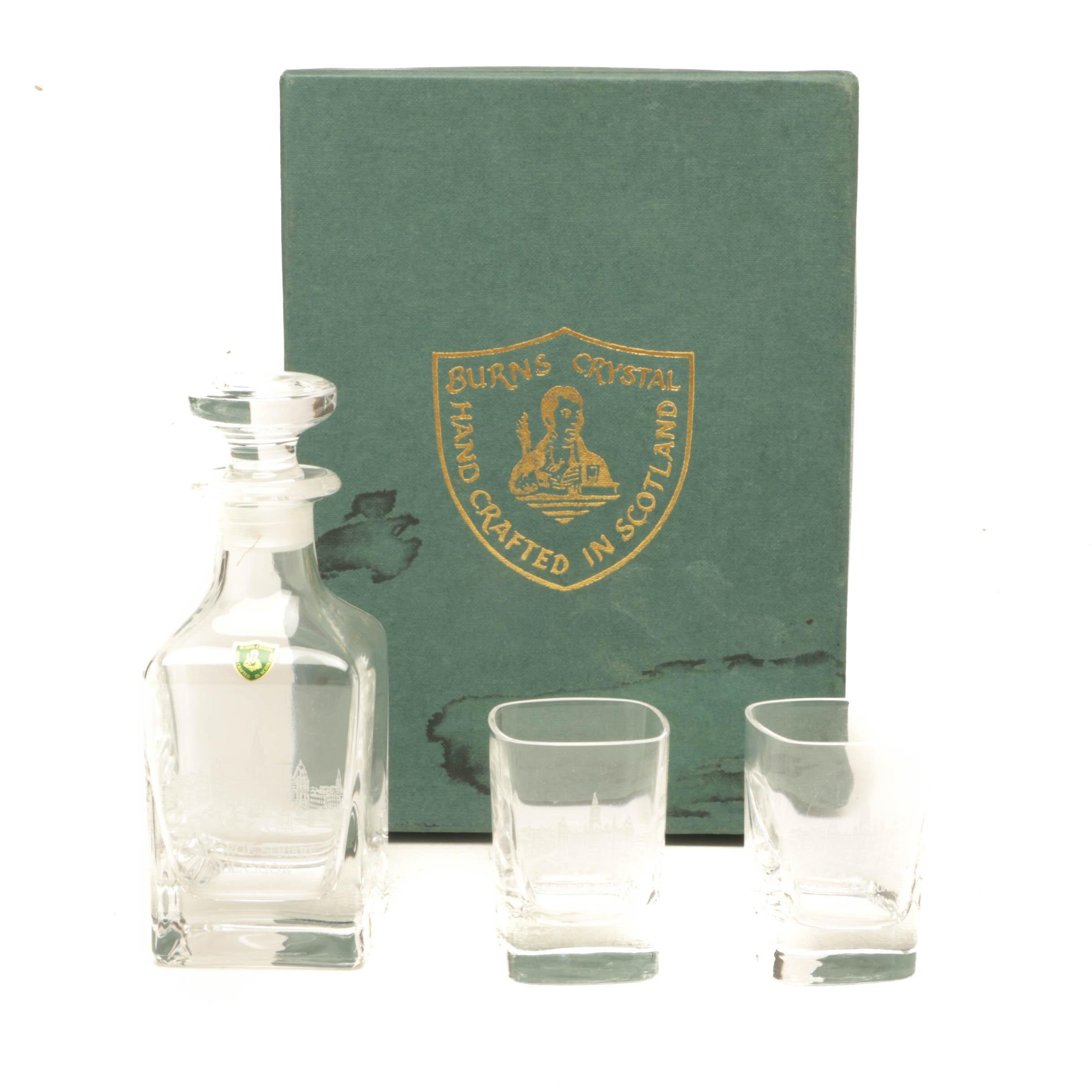 Scottish Burns Crystal Whiskey Set