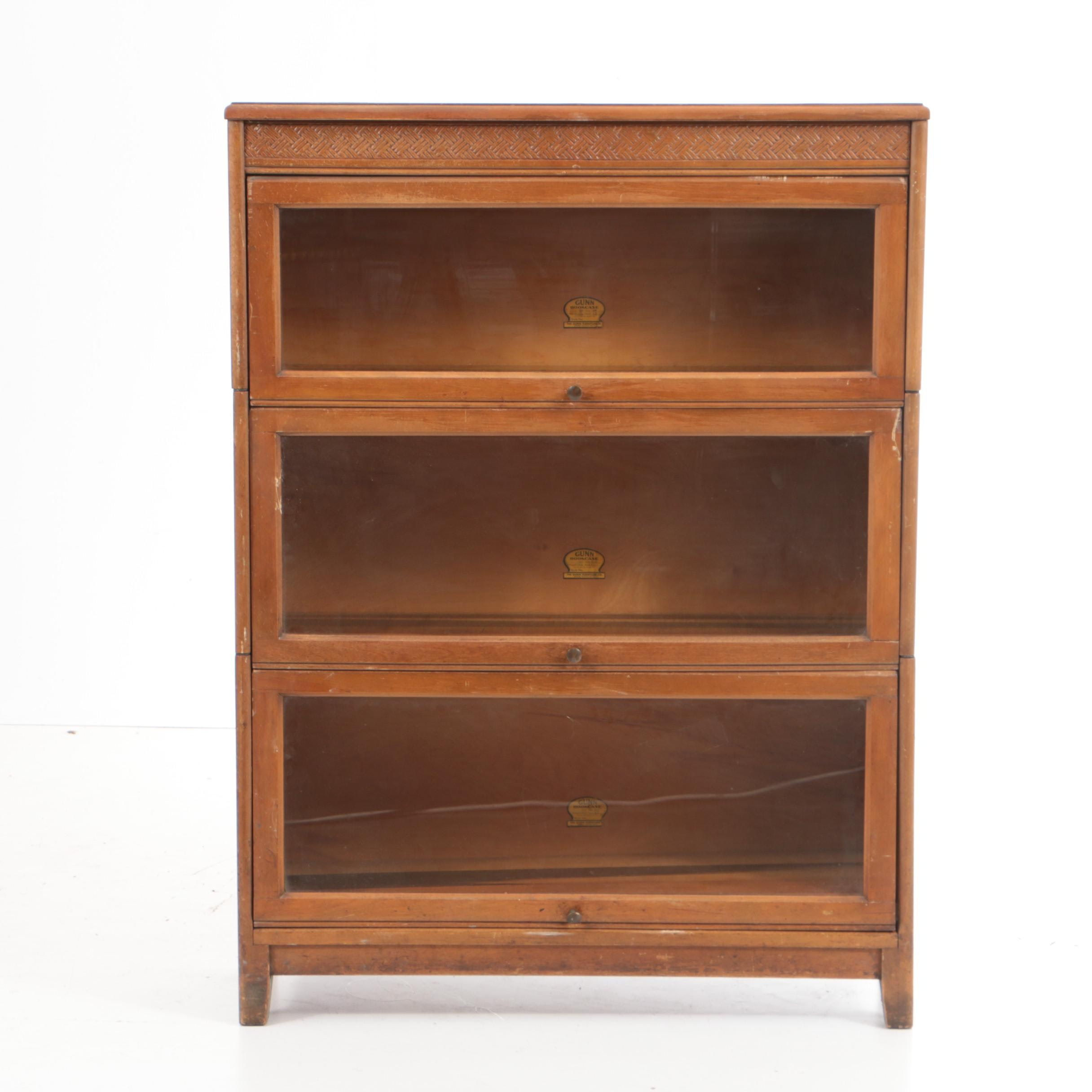 Early 20th Century Three-Stack Barrister's Bookcase by The Gunn Furniture Co.