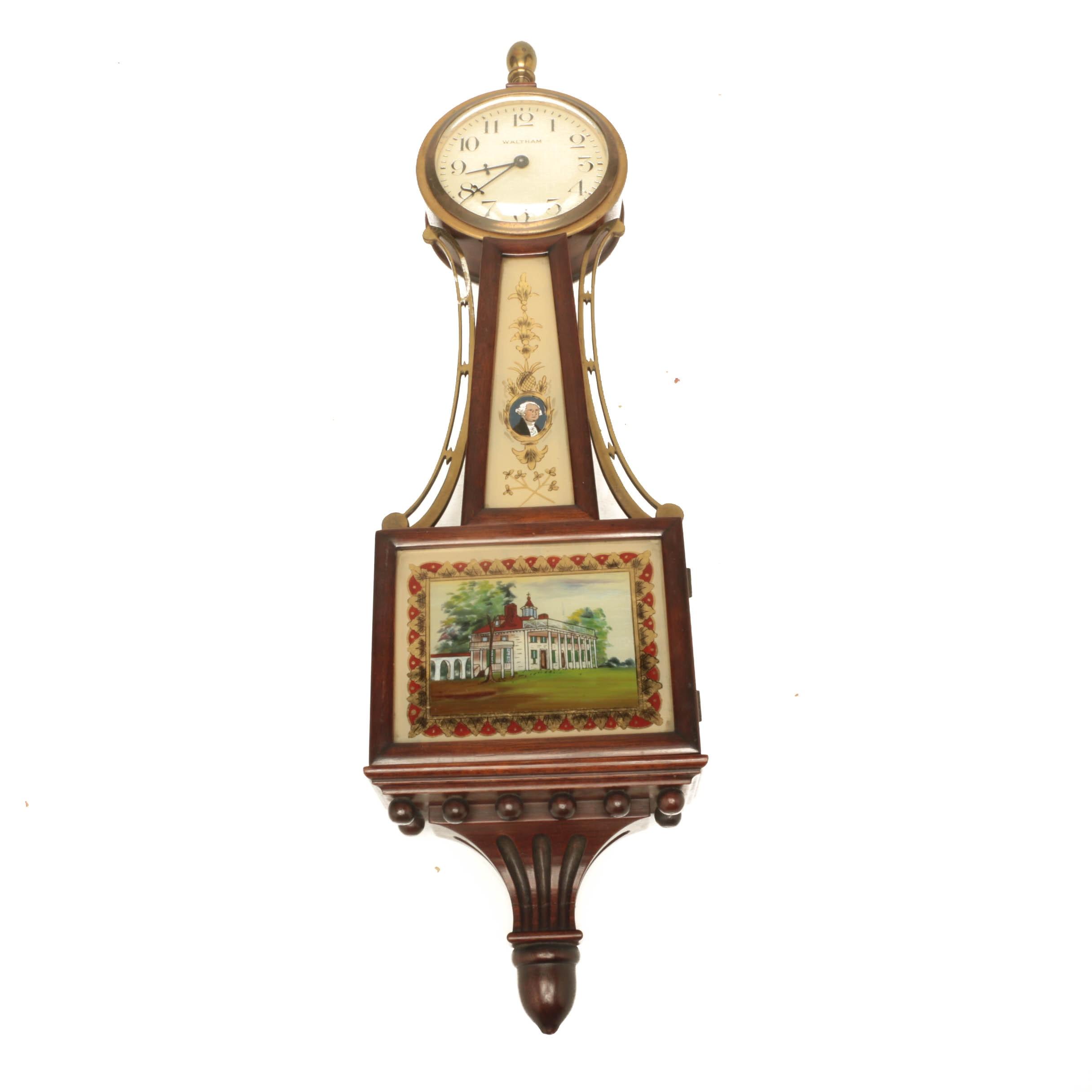 Vintage Waltham Presentation Banjo Clock