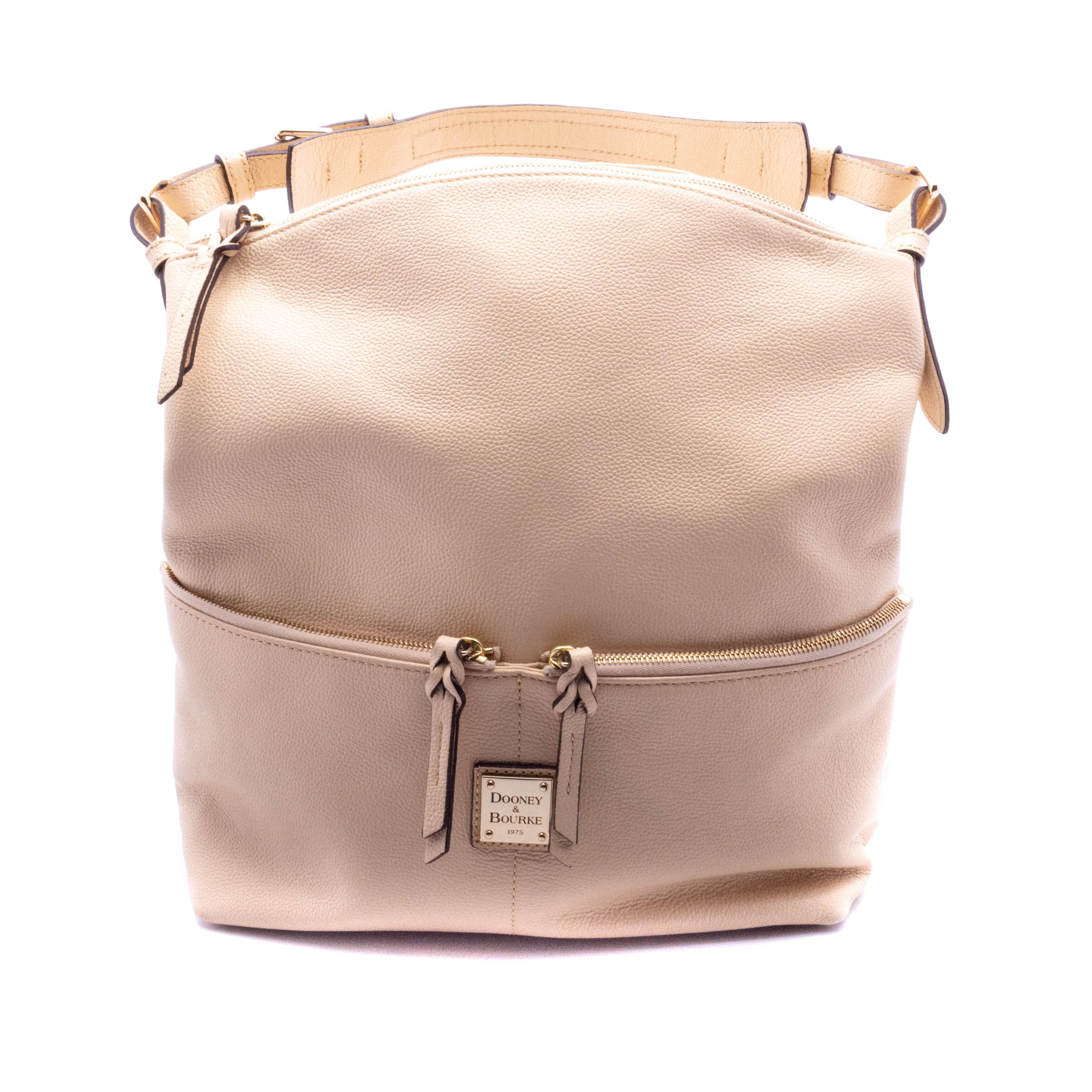 Dooney & Bourke Beige Pebbled Leather Handbag