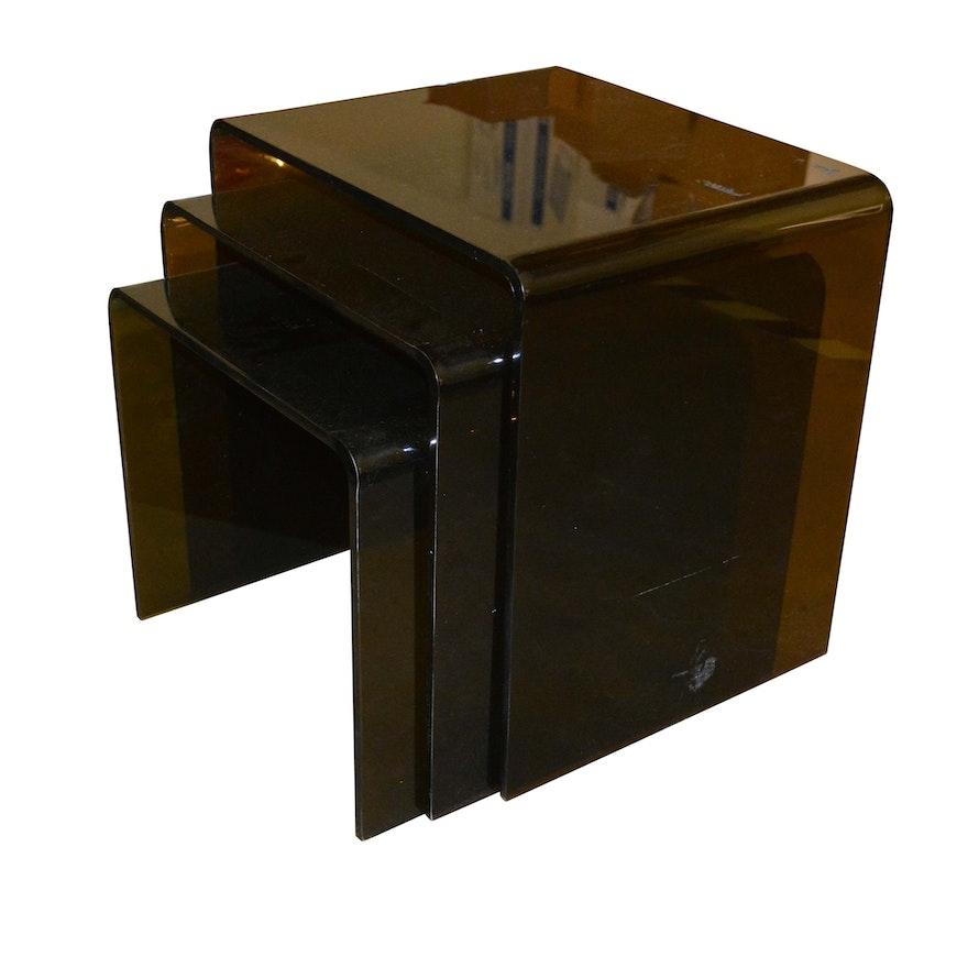 Translucent black acrylic nesting tables ebth translucent black acrylic nesting tables watchthetrailerfo