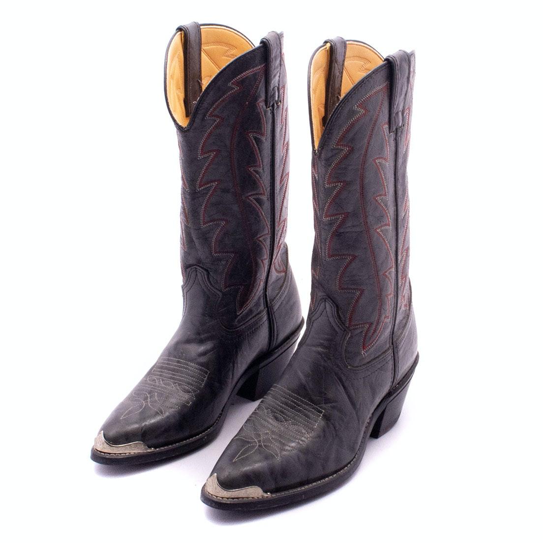 Women's Durango Western Boots in Dark Grey Leather