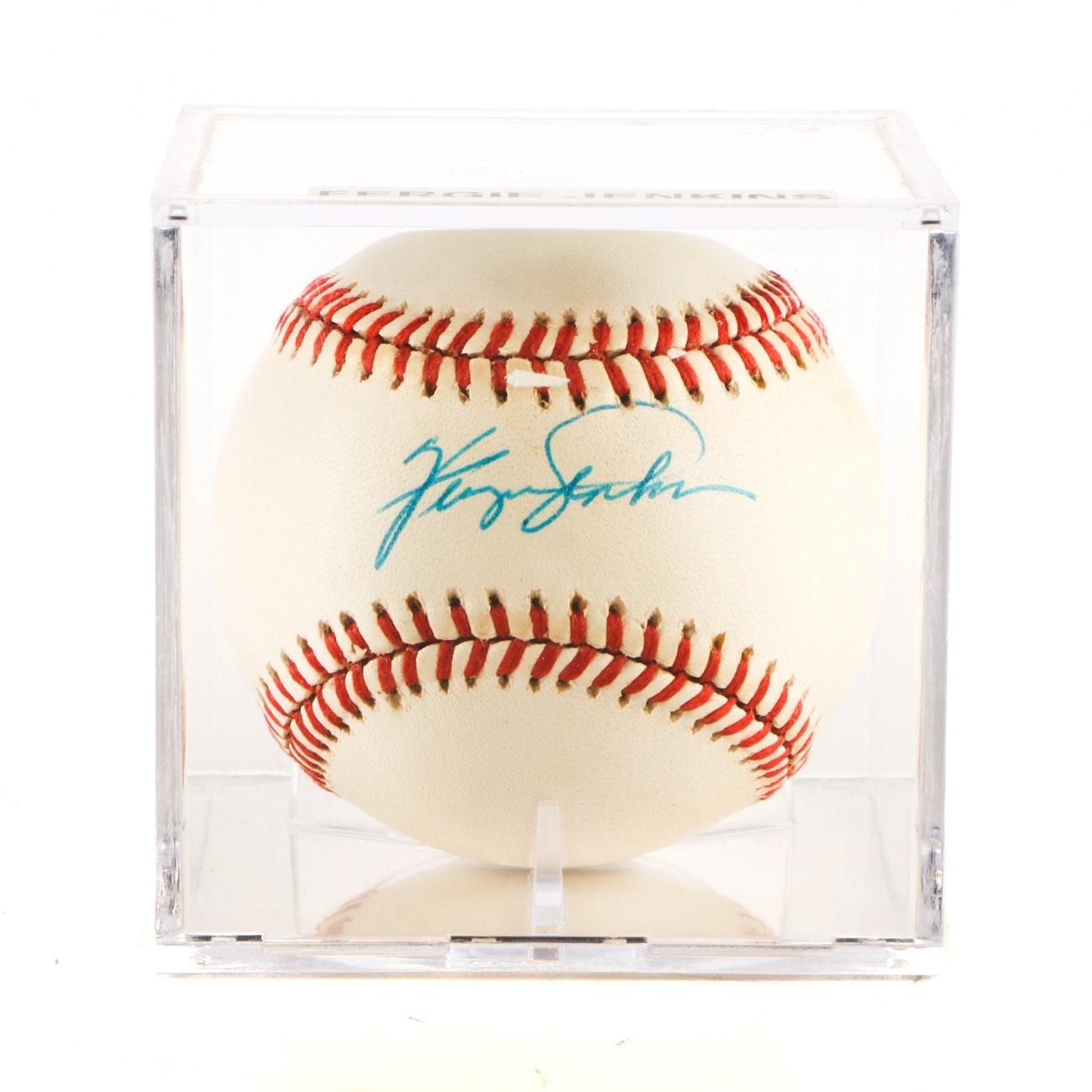 (HOF) Fergie Jenkins Signed Rawlings AL Baseball JSA COA
